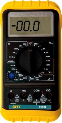 МУЛЬТИМЕТР 0,1 МВ-1000 В; 0,1 В-750 В; 1 МКА-20 А; 0,1 ОМ-20