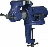 Тиски слесарные поворотные КОБАЛЬТ настольные, ширина губок 100 мм, захват 63.5 мм, 6.7 кг, наковаль