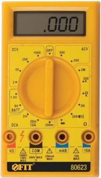 МУЛЬТИМЕТР 0,1 МВ-1000 В; 0,1 В-500 В; 1 МКА-10 А; 0,1 ОМ-2