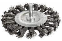 Кордщетка для дрели радиальная витая ПРАКТИКА 100 мм, хвост 6 мм