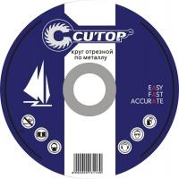 Профессиональный диск отрезной по металлу  и нержавеющей стали Т41-125 х 1,2 х 22,2 мм Cutop Profi P